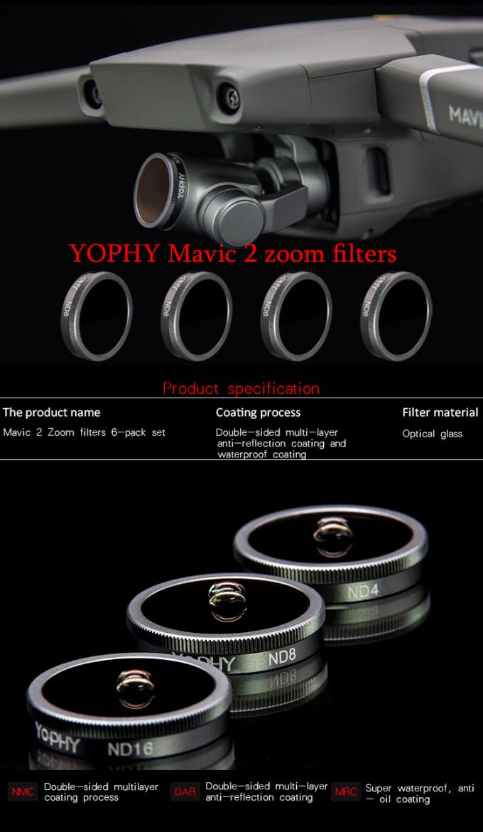DJI Mavic 2 Zoom Filters , Drone Camera Filters ND Set And ND / PL