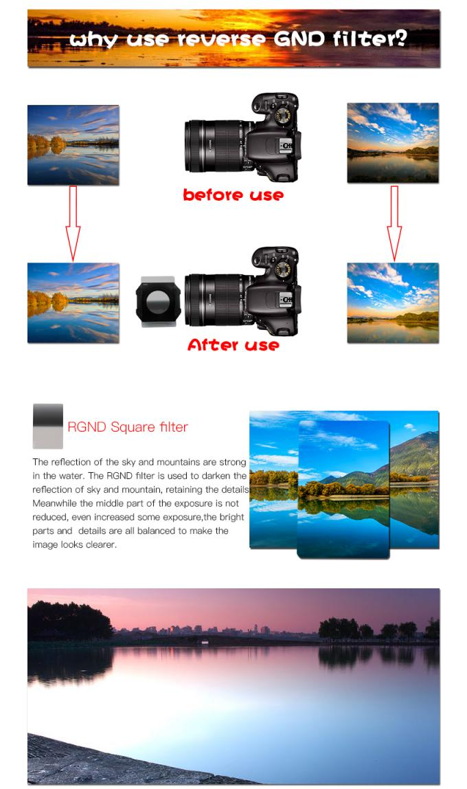 Double Sided Camera Lens Effect Filters , B270 Glass Digital Photography Filters