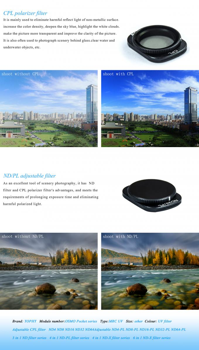 ND Filters, ND/PL Filters for DJI OSMO Pocket camera