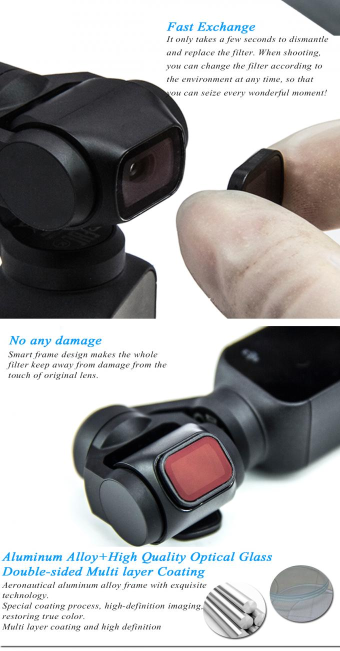 DJI OSMO Pocket HD Camera Lens Filters , ND - PL Filters Long Working Life