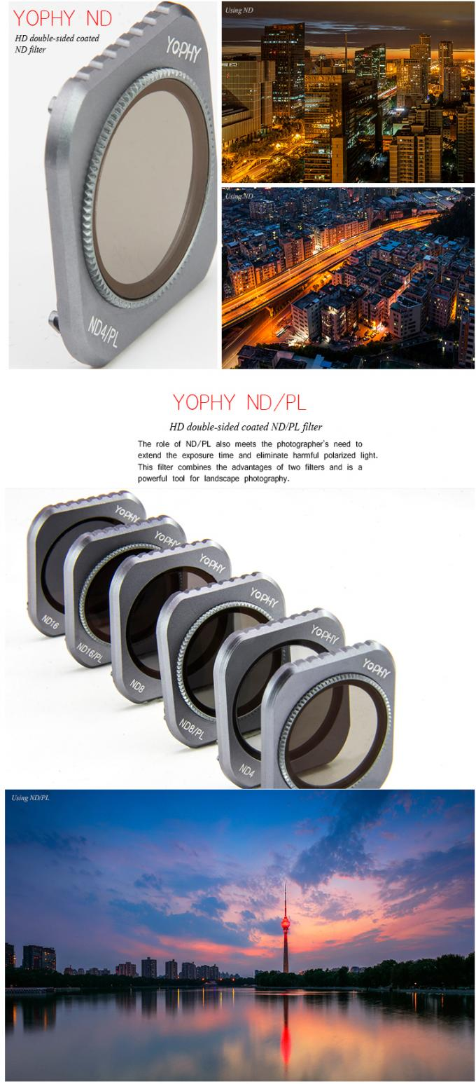 ND ND / PL Drop-in Drone Camera Lens Filters Compatible With DJI Mavic 2 Pro