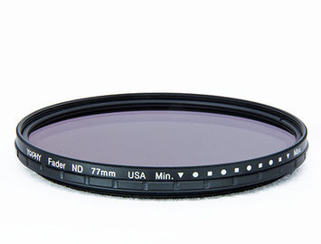 China Black Alloy 360D ND2-ND400 Neutral Density Nd Filter , Digital Camera Lens 72mm Neutral Density Filter supplier