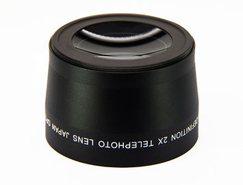 Optical Glass Black Anamorphic Camera Lens 2X Macro Lens For Photography