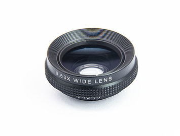 Black Alloy DSLR Camera Lens , Optical Glass 0.63X Wide Angle Digital Slr Camera Lens Filters