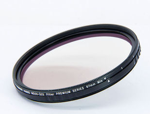China 67mm Black Optical Glass Variable ND Filter ND2X-ND32X With Adjustable Size supplier