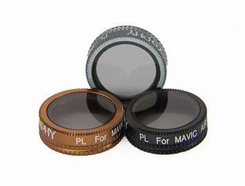 Grey DSLR Lens Filters For Drone Photography AGC Optical Glass Material