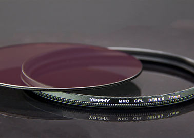 China CPL Filter For DSLR Camera With Ultra Slim Black Aviation Aluminum Alloy Frame supplier
