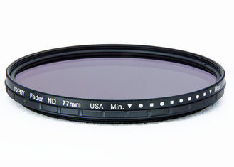 China 77mm ND2 To ND400 Wider Outer Optic Variable Neutral Density ND Filter With Matt Black Ultra Slim Frame supplier