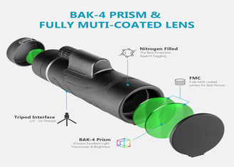 Cell Phone Camera Lens 12x50mm Monocular Telescopefor Adults, Compact HD Professional Binoculars for Bird Watching